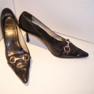 Gucci Horsebit Black Leather Heels- Sz. 11 C